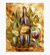 Time for Wine Oil Painting Photographic Print