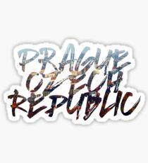 Prague City Scape Sticker