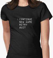 Continue; Women's Fitted T-Shirt