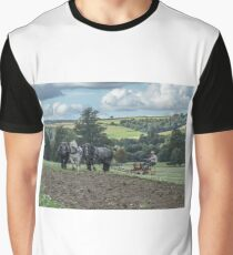 Four Percherons Ploughing Graphic T-Shirt