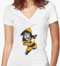 Hey, Minion! Women's Fitted V-Neck T-Shirt