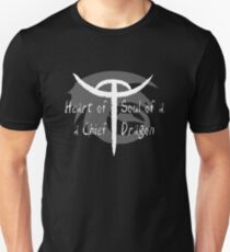 Heart of a Chief, Soul of a Dragon - Black and White Unisex T-Shirt