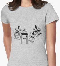 ROCK N ROLL notes Womens Fitted T-Shirt