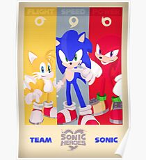 Team Sonic - Sonic the Hedgehog Poster