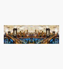 Abstract Bridge Oil Painting Photographic Print
