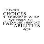 It is our choices... by natstanz