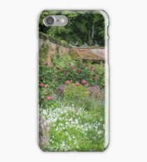 Summer border in a Walled English Garden iPhone Case/Skin