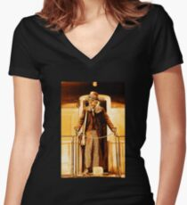 Anarchist:No King - On the Train Women's Fitted V-Neck T-Shirt