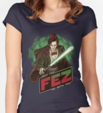 May the Fez be With You Women's Fitted Scoop T-Shirt