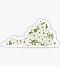 Virginia Flowers Sticker