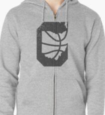 Cleveland Ohio Basketball Zipped Hoodie