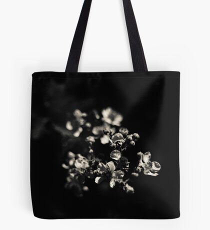flower in black Tote Bag