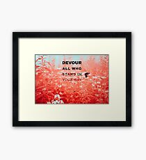 Devour All Who Stand In Your Way (Infrared/Butterfly) Framed Print
