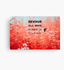 Devour All Who Stand In Your Way (Infrared/Butterfly) Canvas Print