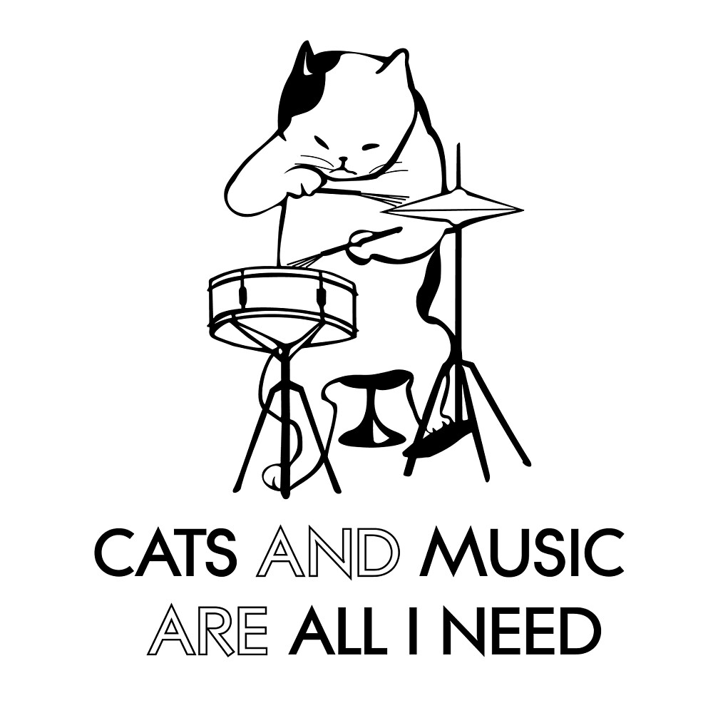 Cats and music are all I need by dailydelicious