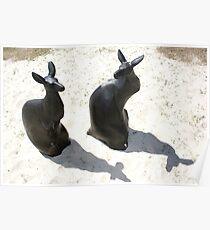 Swell Kangaroo Sculptures Poster