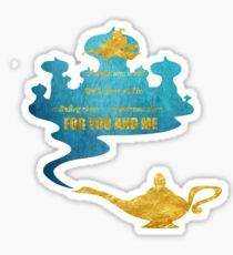 A Whole New World - Aladdin Sticker
