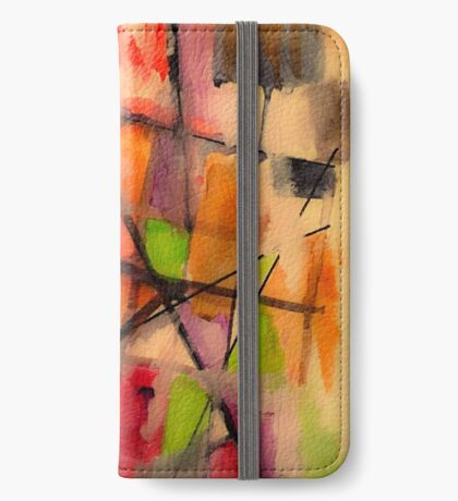 Lines and Color: Abstract Studio iPhone Wallet