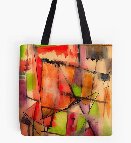 Lines and Color: Abstract Studio Tote Bag