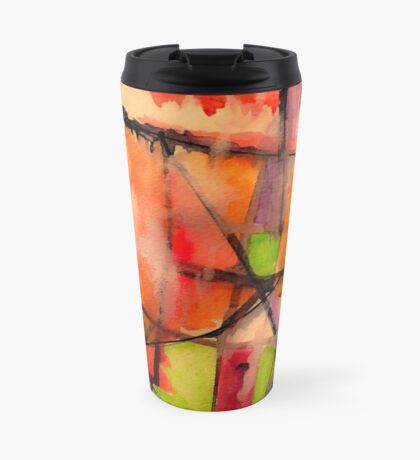 Lines and Color: Abstract Studio Travel Mug