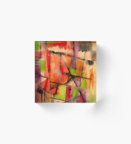 Lines and Color: Abstract Studio Acrylic Block