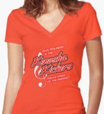 Kenosha Kickers Women's Fitted V-Neck T-Shirt