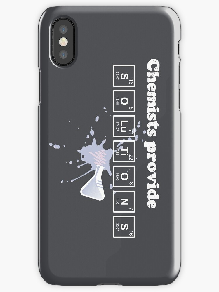 Chemists Provide Solutions iPhone Case by fishbiscuit