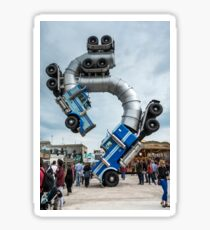 Big Rig Jig by Mike Ross at Banksy's Dismaland Sticker