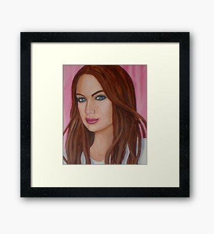 danielle's lip gloss Framed Print