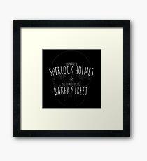 Sherlock Holmes 221B  Framed Print
