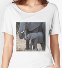 Love & Trust - Mother & Baby African Elephants Women's Relaxed Fit T-Shirt