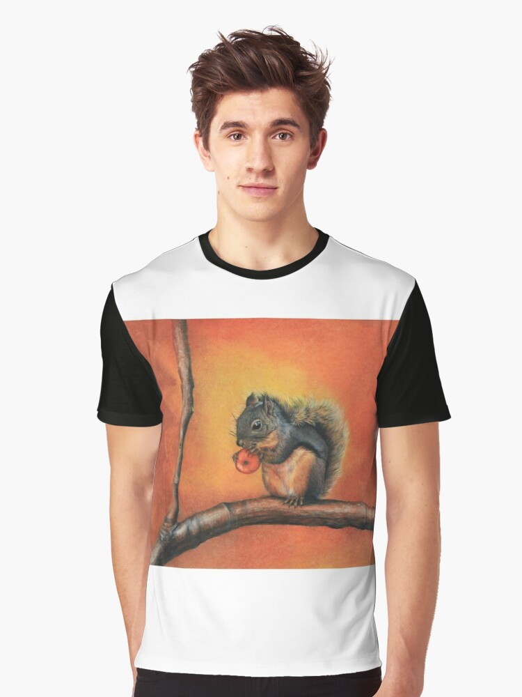 Little Red Squirrel  Graphic T-Shirt Front