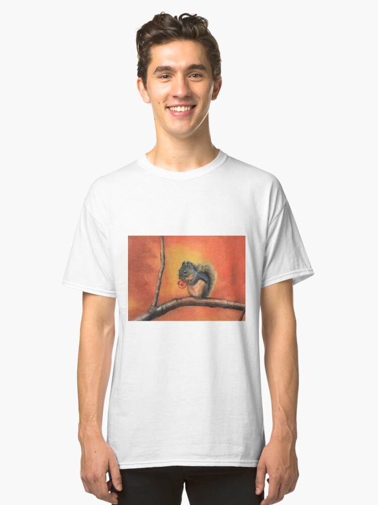 Little Red Squirrel  Classic T-Shirt Front