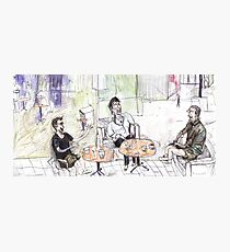 Loui, Donna and Phil at the Qld Library Café Photographic Print