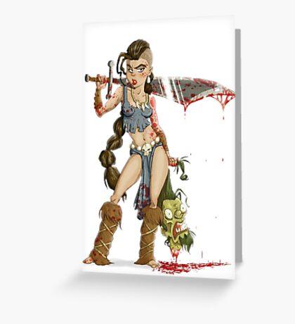 Barbarian Girl Greeting Card