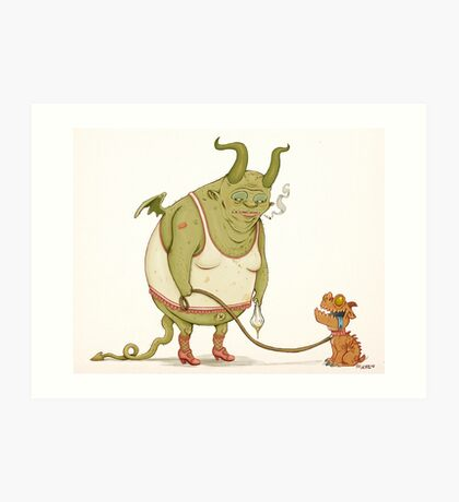 A demon and his dog... Art Print