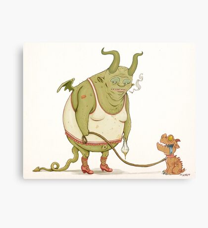 A demon and his dog... Metal Print