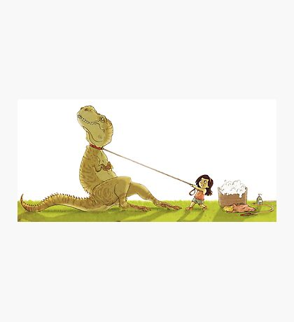 Dinosaur Bathtime Photographic Print