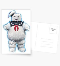 Vintage Stay Puft Marshmallow Man Postcards