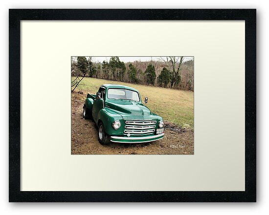 """Studebaker Truck: Put Out to Pasture, 'til the Next Ride""... prints and products by Bob Hall©"