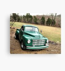 """""""Studebaker Truck: Put Out to Pasture, 'til the Next Ride""""... prints and products Canvas Print"""