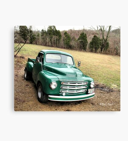 """Studebaker Truck: Put Out to Pasture, 'til the Next Ride""... prints and products Canvas Print"