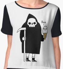 Spooky Ice Cream Cone Chiffon Top