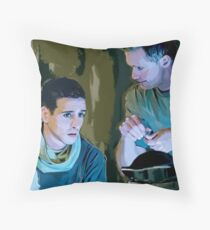 brad and ray Throw Pillow