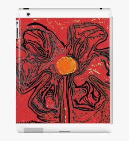 retro red iPad Case/Skin
