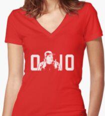 ORIGINAL Ohio State Michigan Coach Rivalry Women's Fitted V-Neck T-Shirt