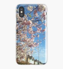 Cherry blossoms and blue skies iPhone Case/Skin