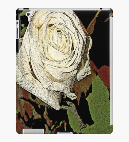 white roses of romance  iPad Case/Skin