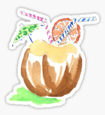 Coconut Juice Sticker Sticker