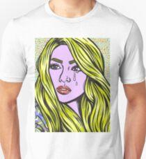 Pop Art Blonde Crying Comic Girl Unisex T-Shirt